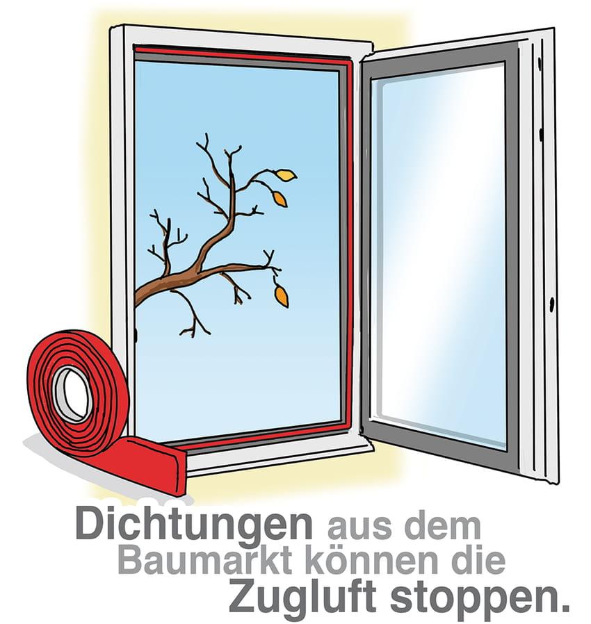 Neue Dichtungen können Zugluft am Fenster stoppen