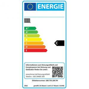 Energielabel für alte Heizungen