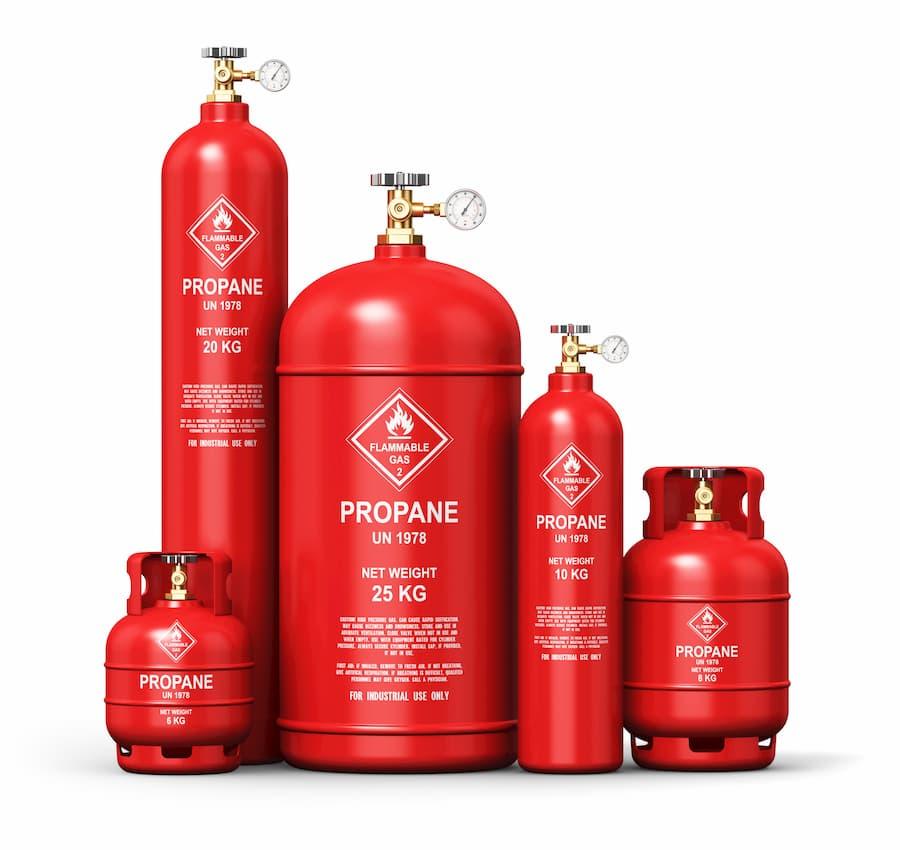 Flüssiggas in Gasflaschen © Scanrail, stock.adobe.com