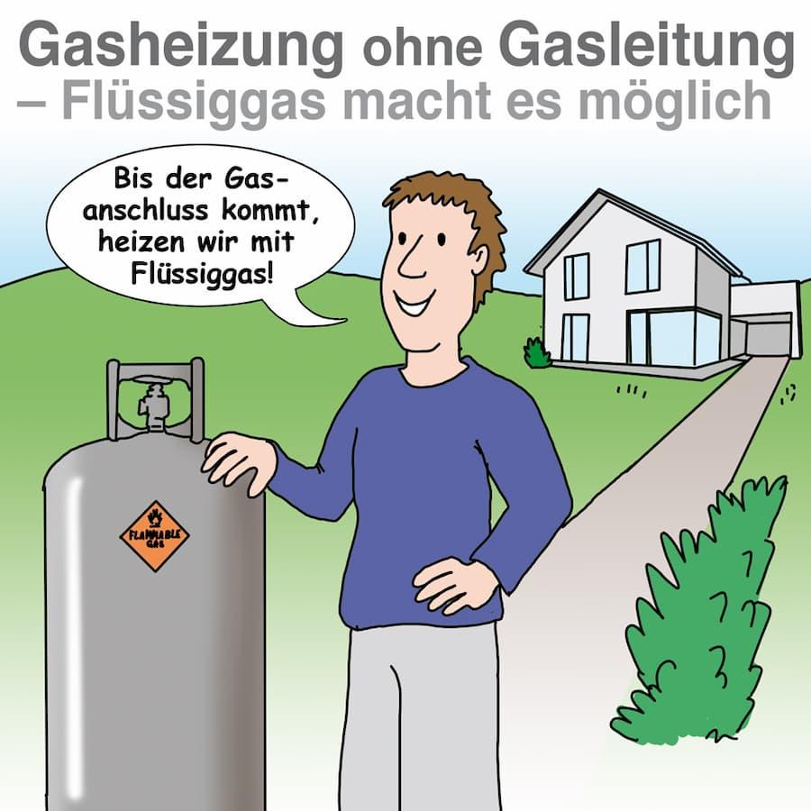 Flüssiggasheizung: Gasheizung auch ohne Anschuss an das Gasnetz