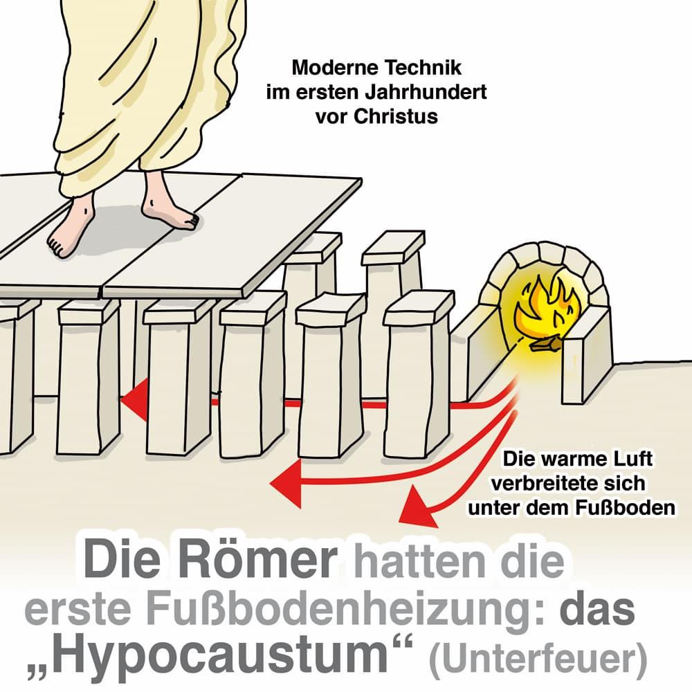 Schon die alten Römer hatten eine Fußbodenheizung