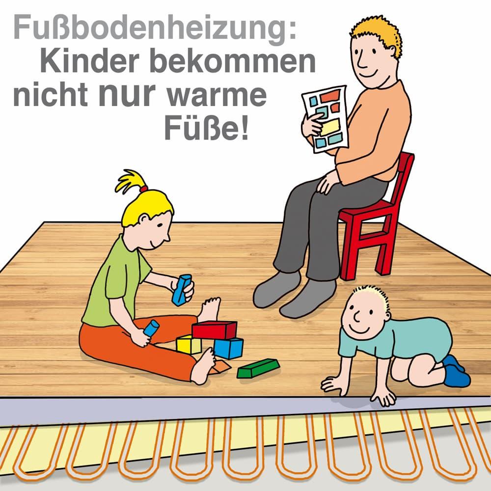 Fußbodenheizung: Nicht nur bei Kindern beliebt
