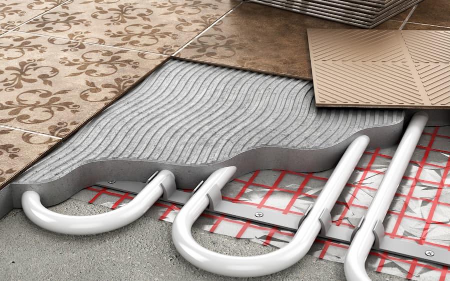 Fußbodenheizung mit Klemmschienensystem © Sveta, stock.adobe.com