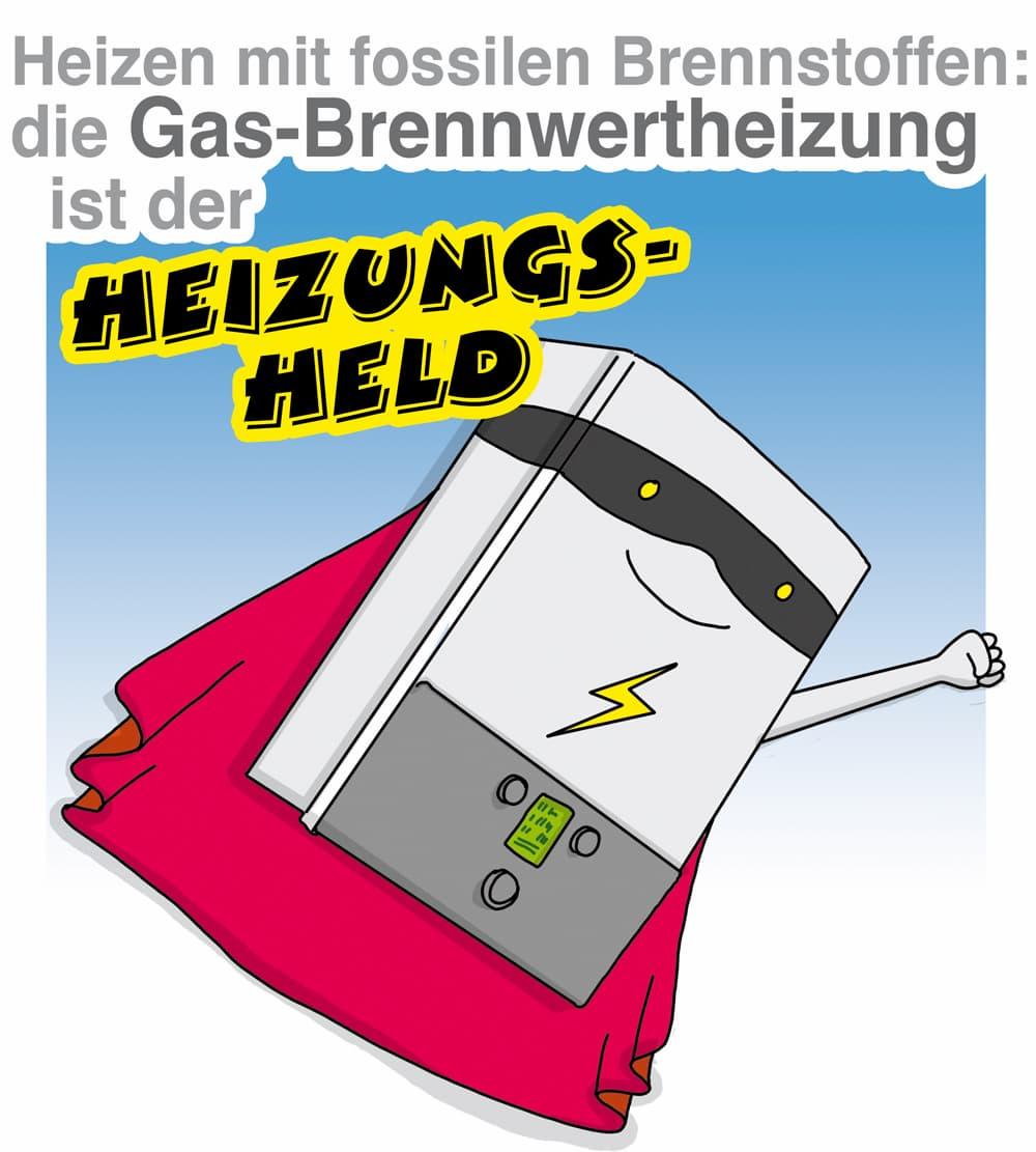 Spitze bei fossilen Brennstoffen: Die Gasheizung