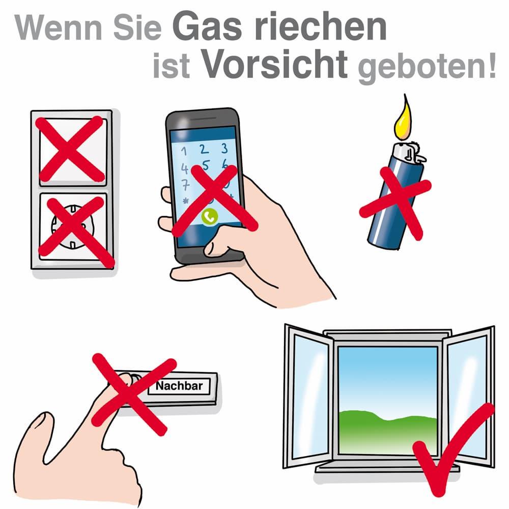 Gasgeruch: So handeln Sie richtig