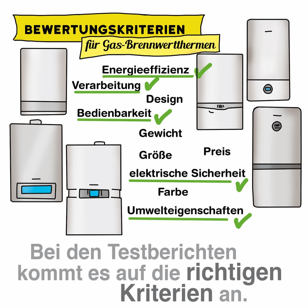 Gasheizung Testberichte: Es kommt auf die richtigen Testkriterien an