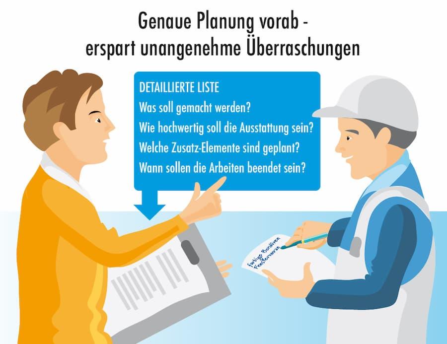 Handwerker-Angebote: Genaue Planung vorab spart Überraschungen