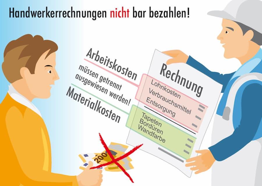 Handwerkerrechnungen nicht bar bezahlen