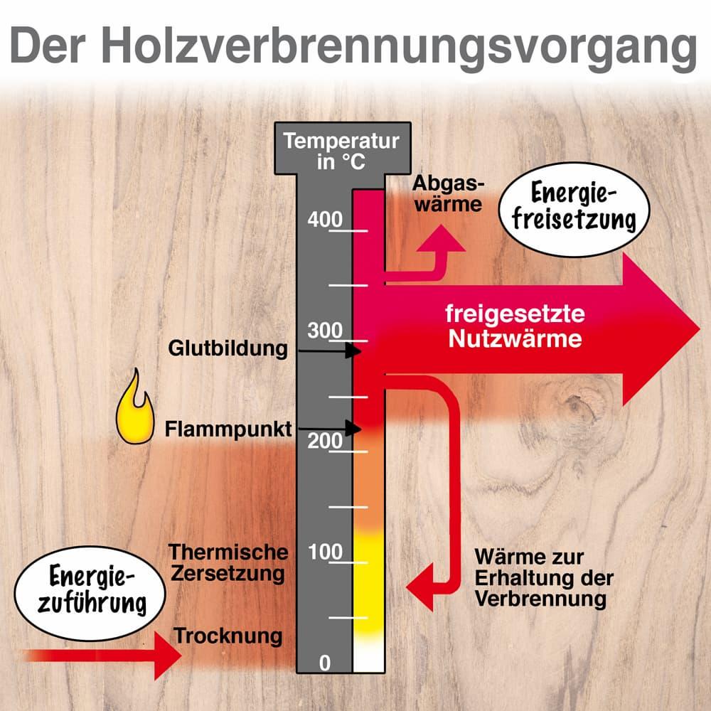 Der Holzverbrennungsvorgang anschaulich erklärt