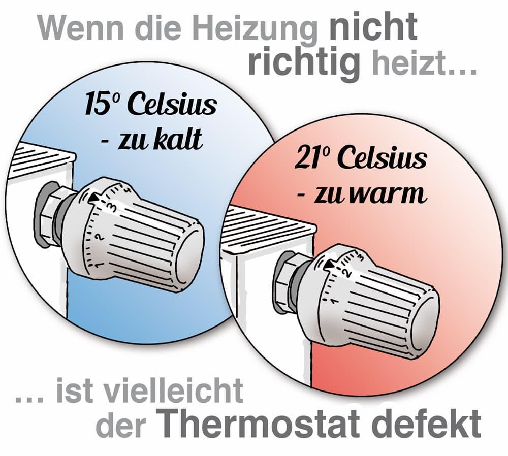 Wenn die Heizung nicht richtig funktioniert ist vielleicht der Thermostat defekt