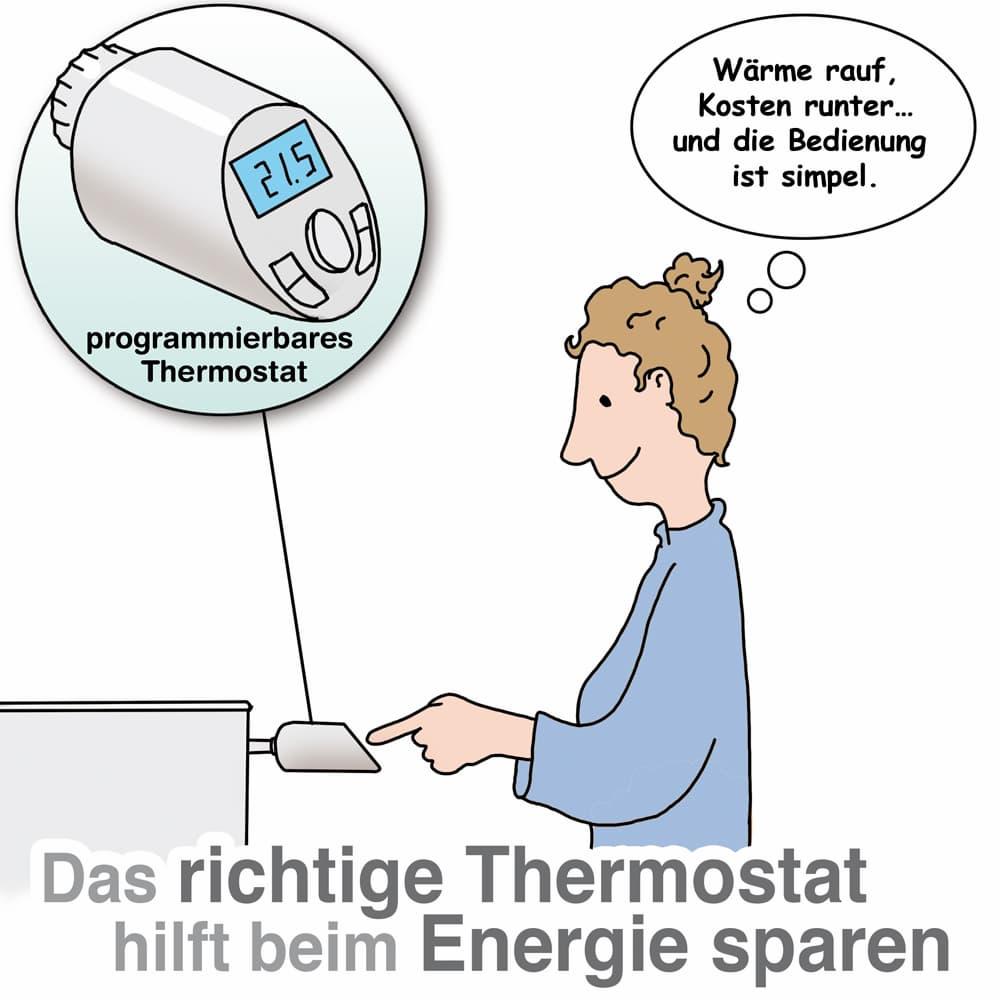 Das richtige Thermostat hilft Heiozkosten zu sparen