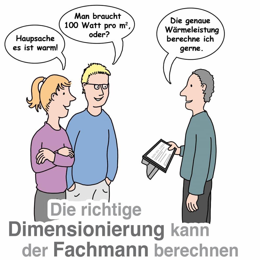 Heizkörper: Die richtige Dimensioierung kann der Fachmann berechnen