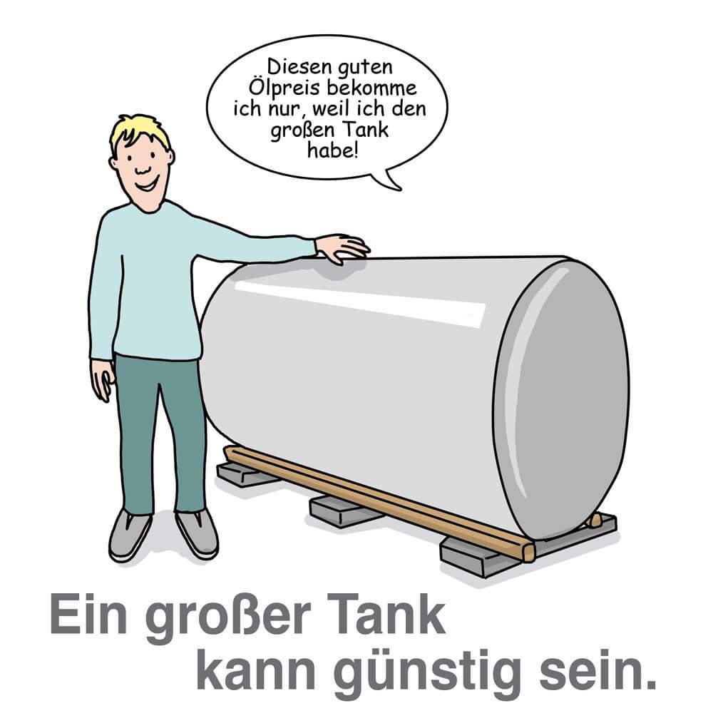 Heizöltank: Ein großer Tank kann Vorteile beim Heizölkauf bieten