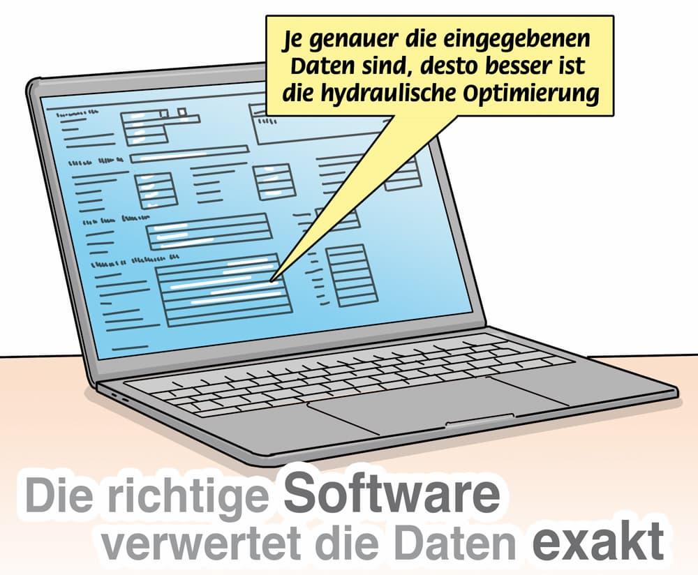 Hydraulischer Abgleich: Moderne Software erleichtert die Einstellung und Berechnung