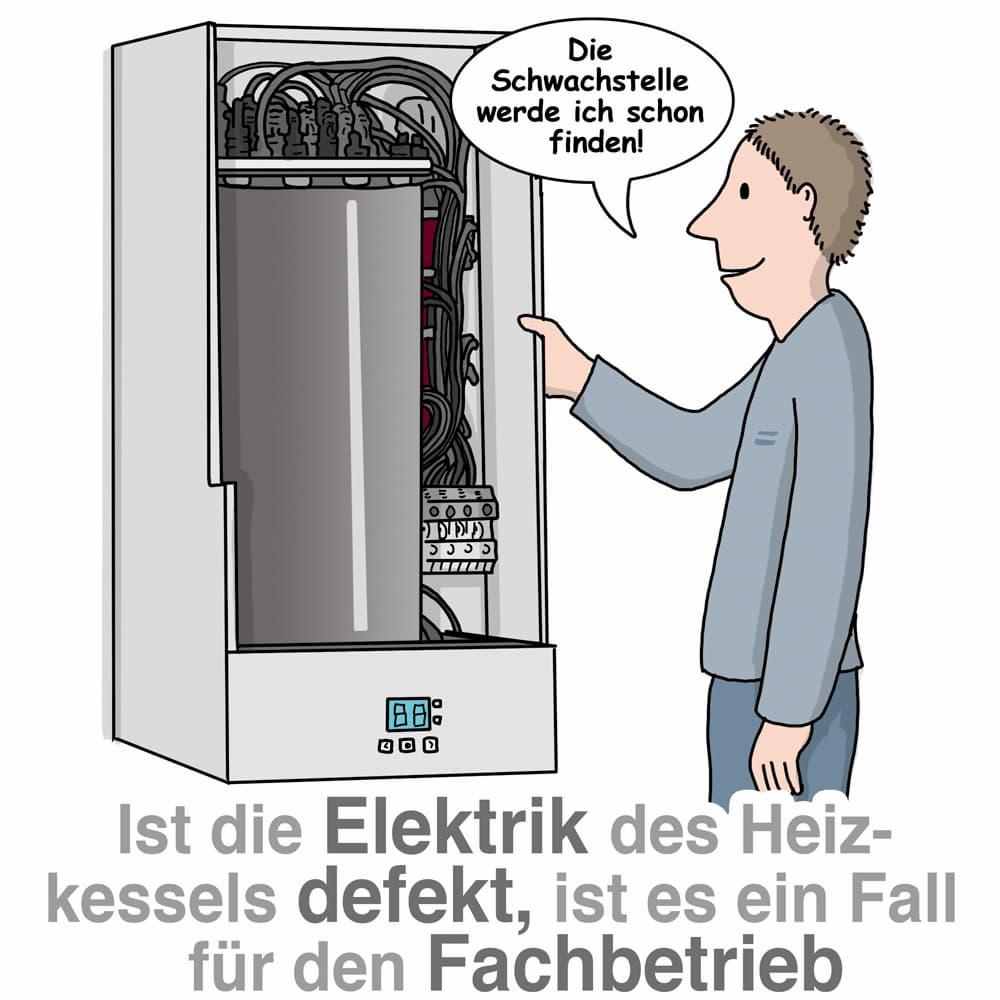 Ist die Elektrik des Heizkessels defekt ist es ein Fall für den Fachmann