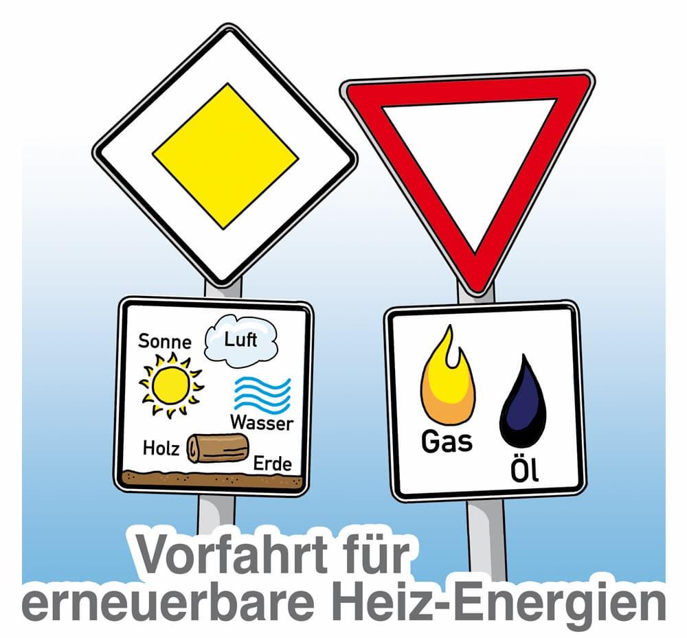 Vorfahrt für erneuerbare Heiz-Energien