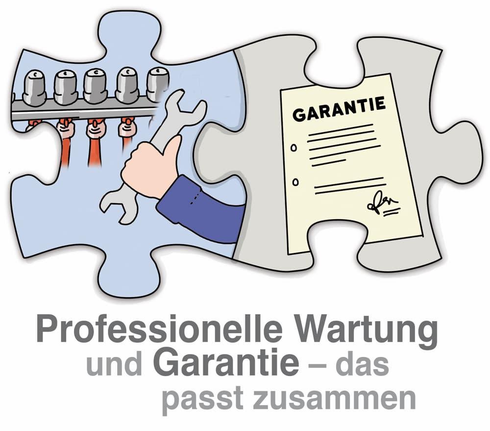 Heizung: Professionelle Wartung und Garantie: passt zusammen