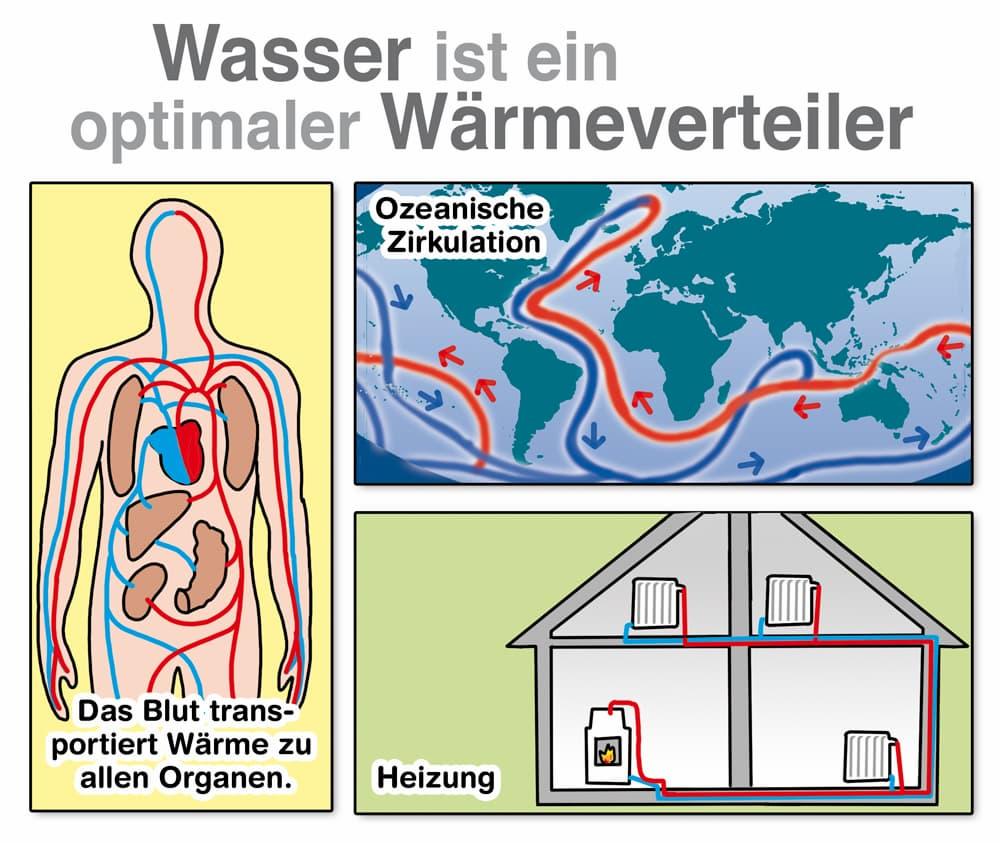 Wasser ist ein optimaler Wärmeverteiler