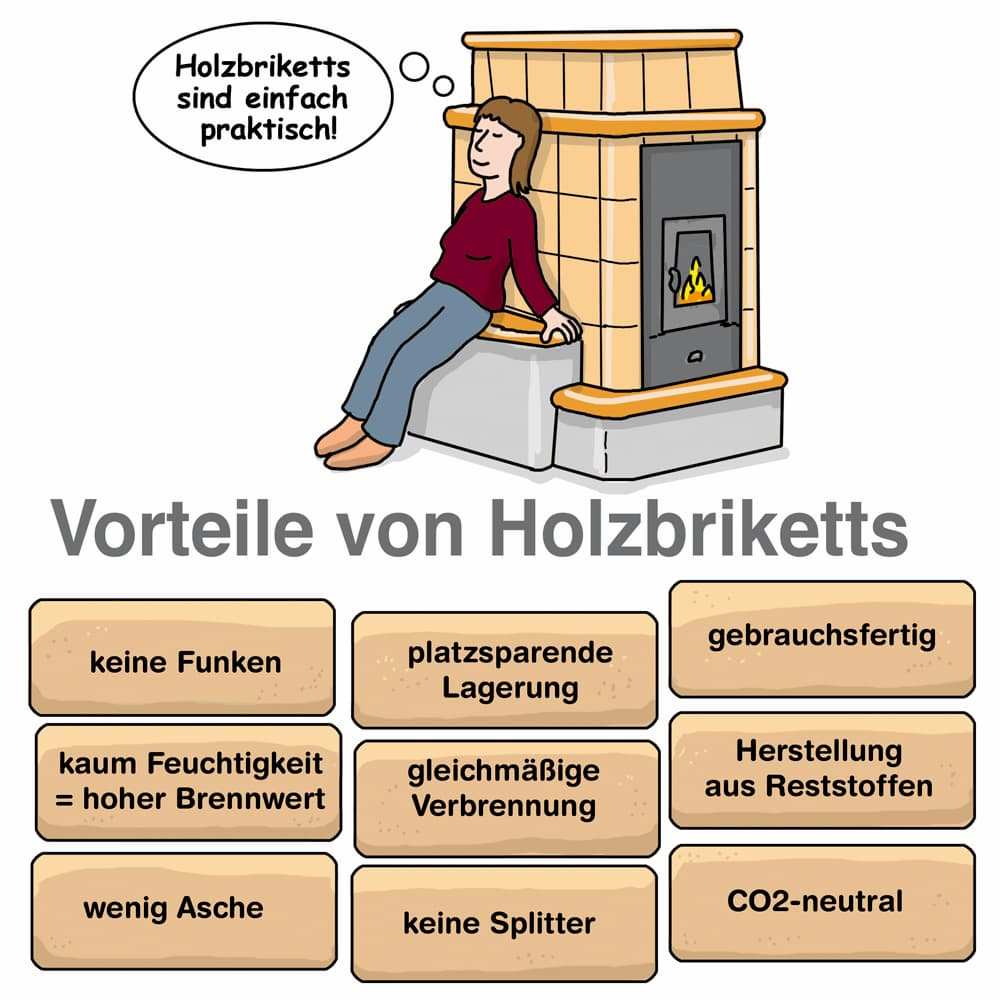 Vorteile von Holzbriketts