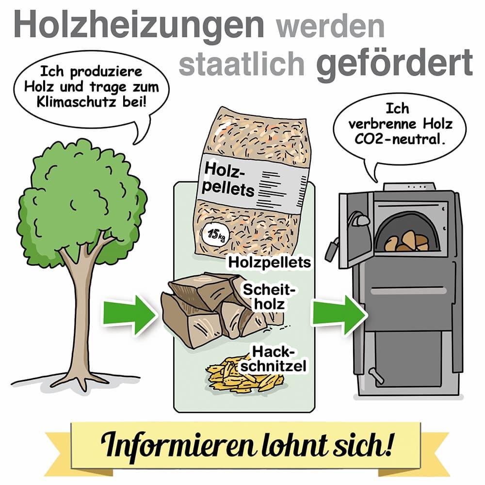 Holzheizungen werden staatlich gefördert