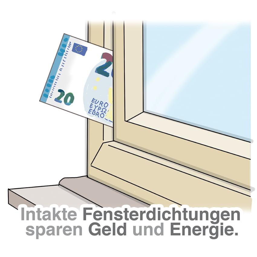 Intakte Fensterdichtung spart Energie