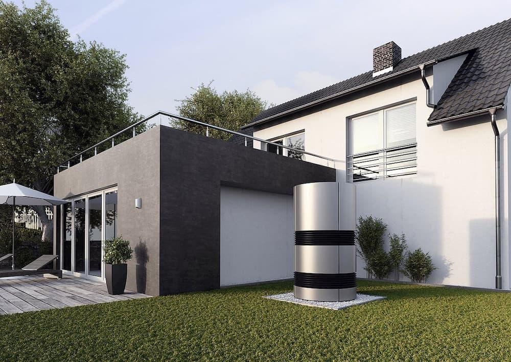 Luft-Wasser-Wärmepumpe im Neubau © Bundesverband Wärmepumpe
