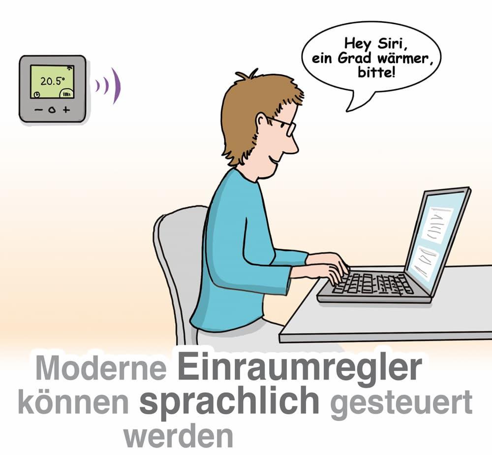 Moderne Einraumregeler können sprachlich gesteuert werden