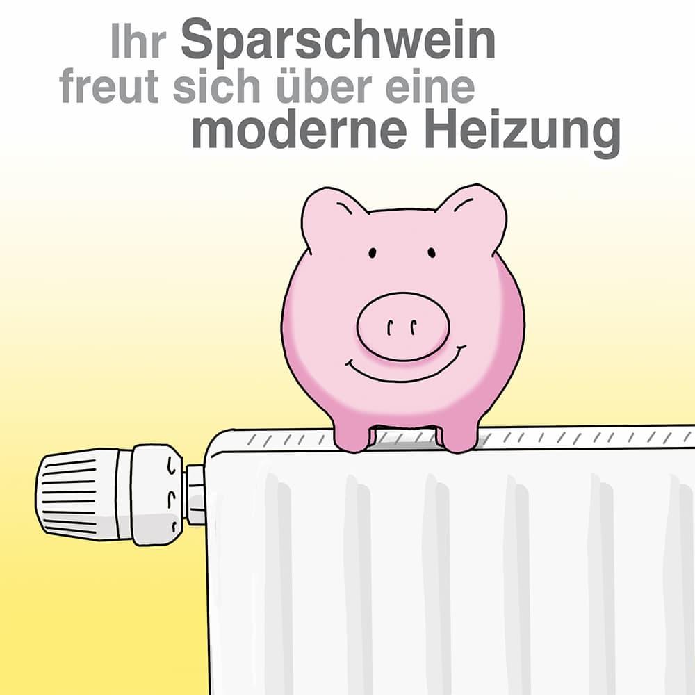 Ihr Sparschwein freut sich über eine moderne Heizung