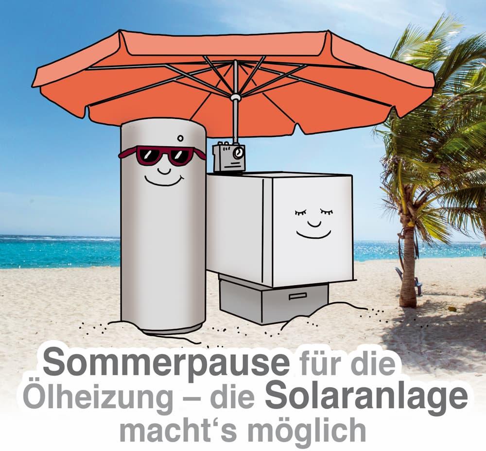 Ölheizung clever mit Solarthermie kombinieren