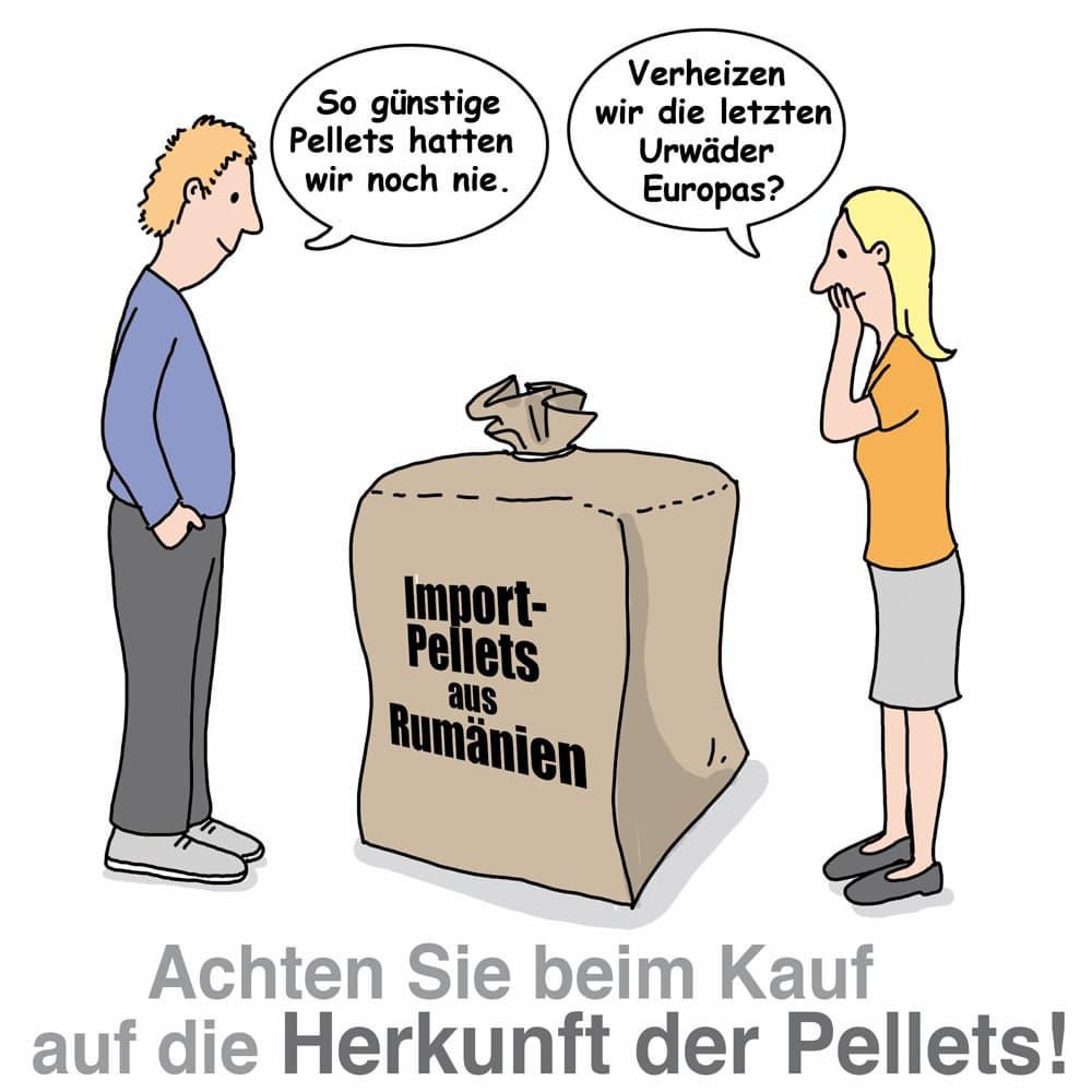Holzpellets: Achten Sie auf die Herkunft der Pellets