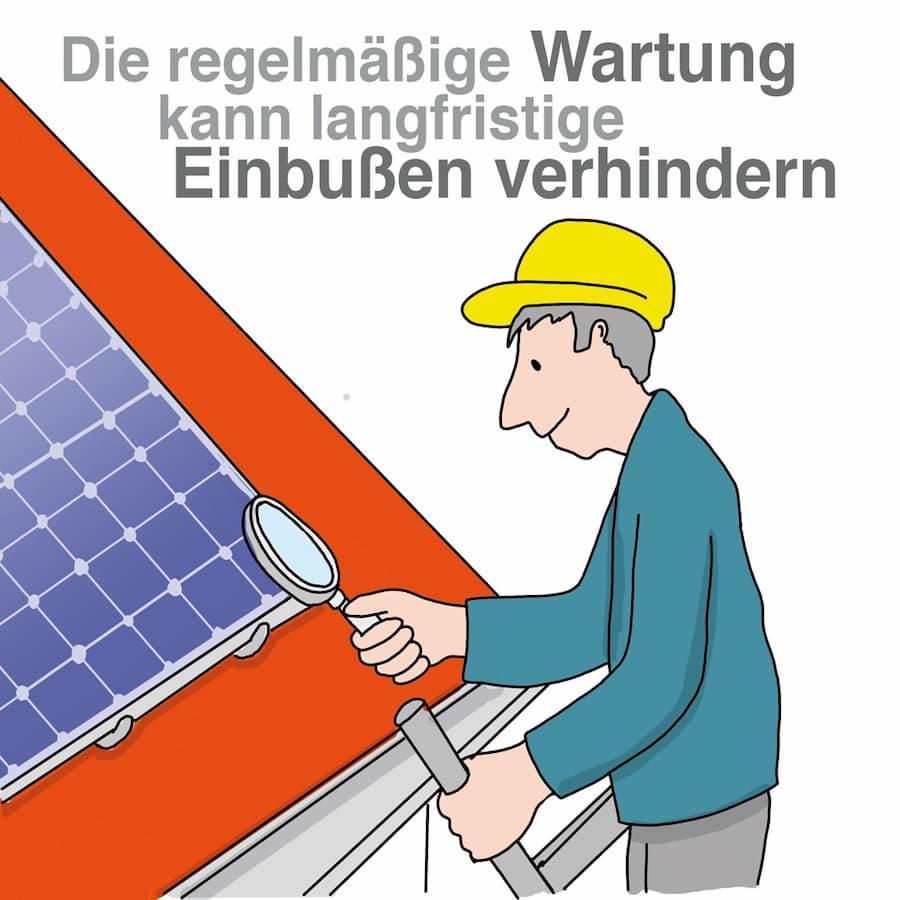 Photovoltaik: Regelmässige Wartung ist sinnvoll