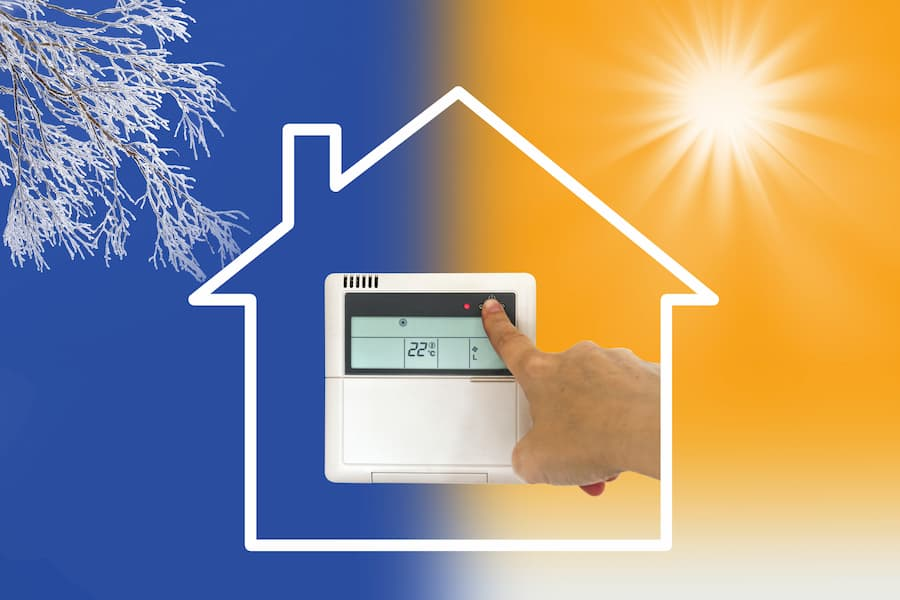 Richtig heizen im Sommer und Winter © Delphotostock, stock.adobe.com