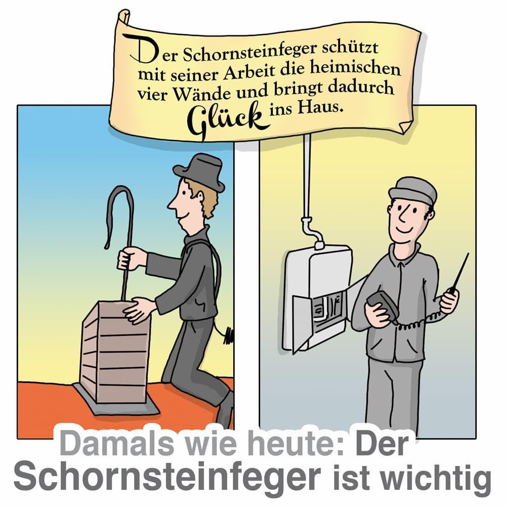 Der Schornsteinfeger übernimmt wichtige Aufgaben