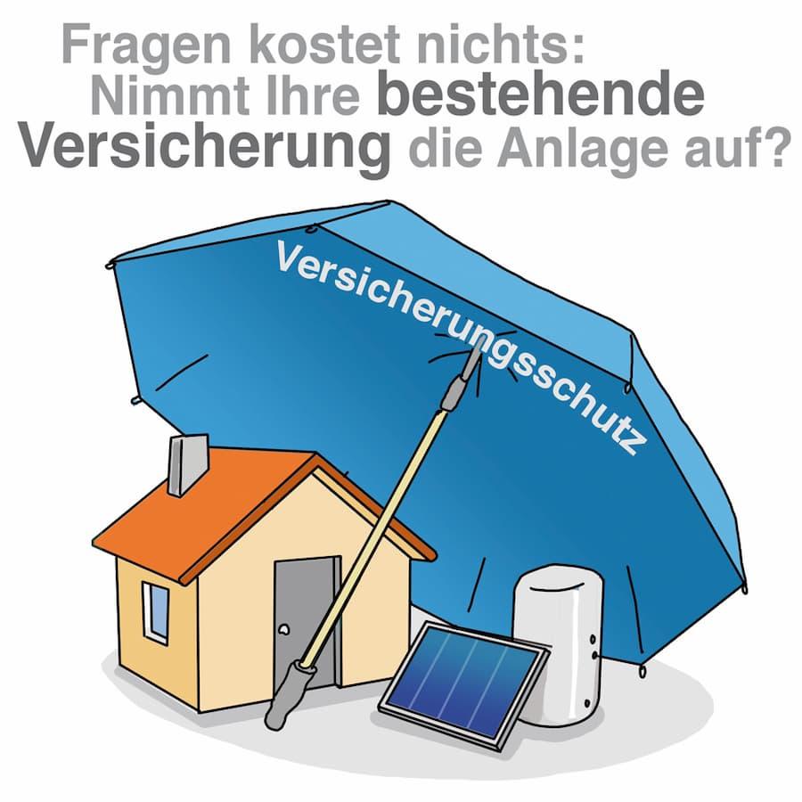 Solaranlage: Vielleicht schon vom Versicherungsschutz abgedeckt? Fragen Sie nach