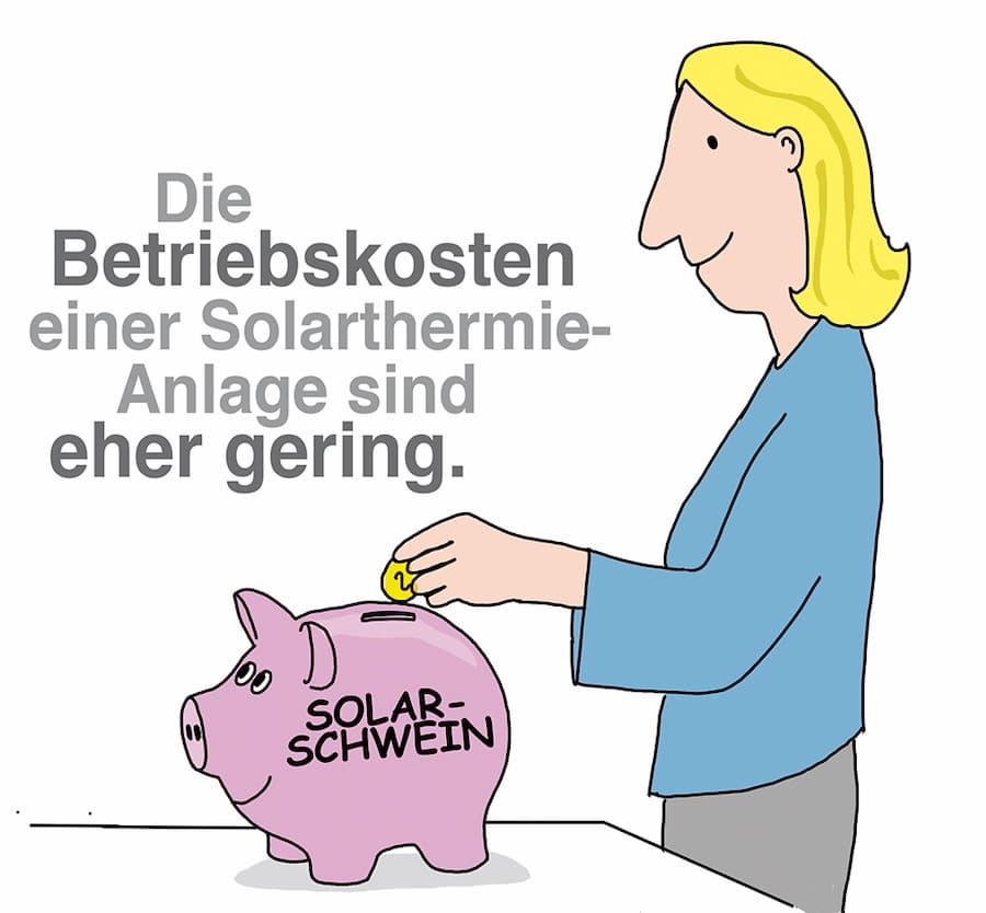 Solarthermie: Betriebskosten sind relativ gering
