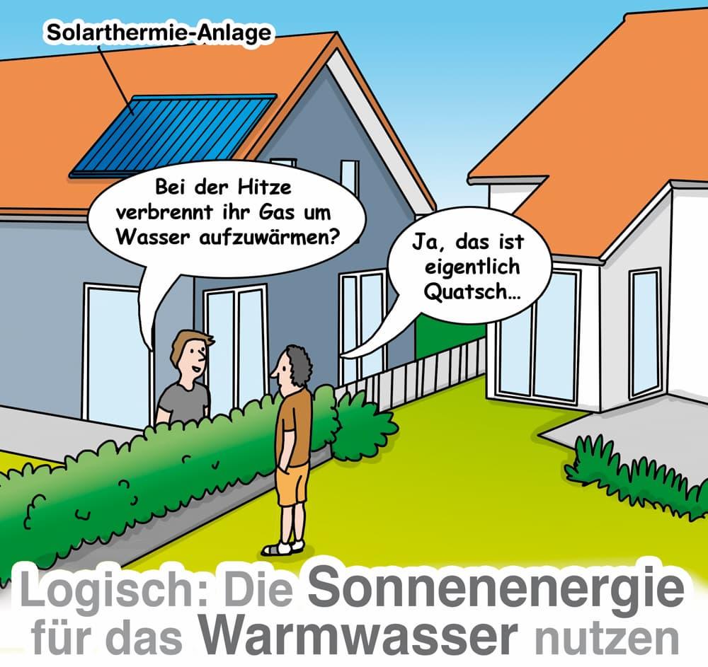 Solarthermie: Heizkosten sparen bei der Warmwasserbereitung