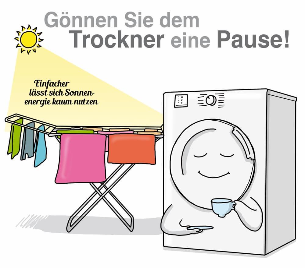 Bei Sonnenschein: Gönnen Sie dem Trockner eine Pause