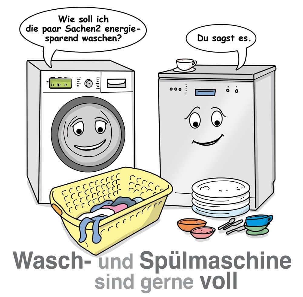 Waschmaschine und Spülmaschine immer voll beladen