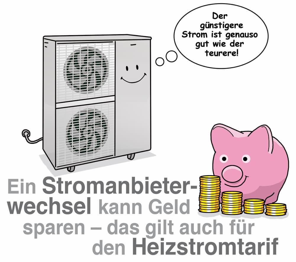 Heizstrom und Wärmepumpenstrom: Ein Anbieterwechsel kann lohnen