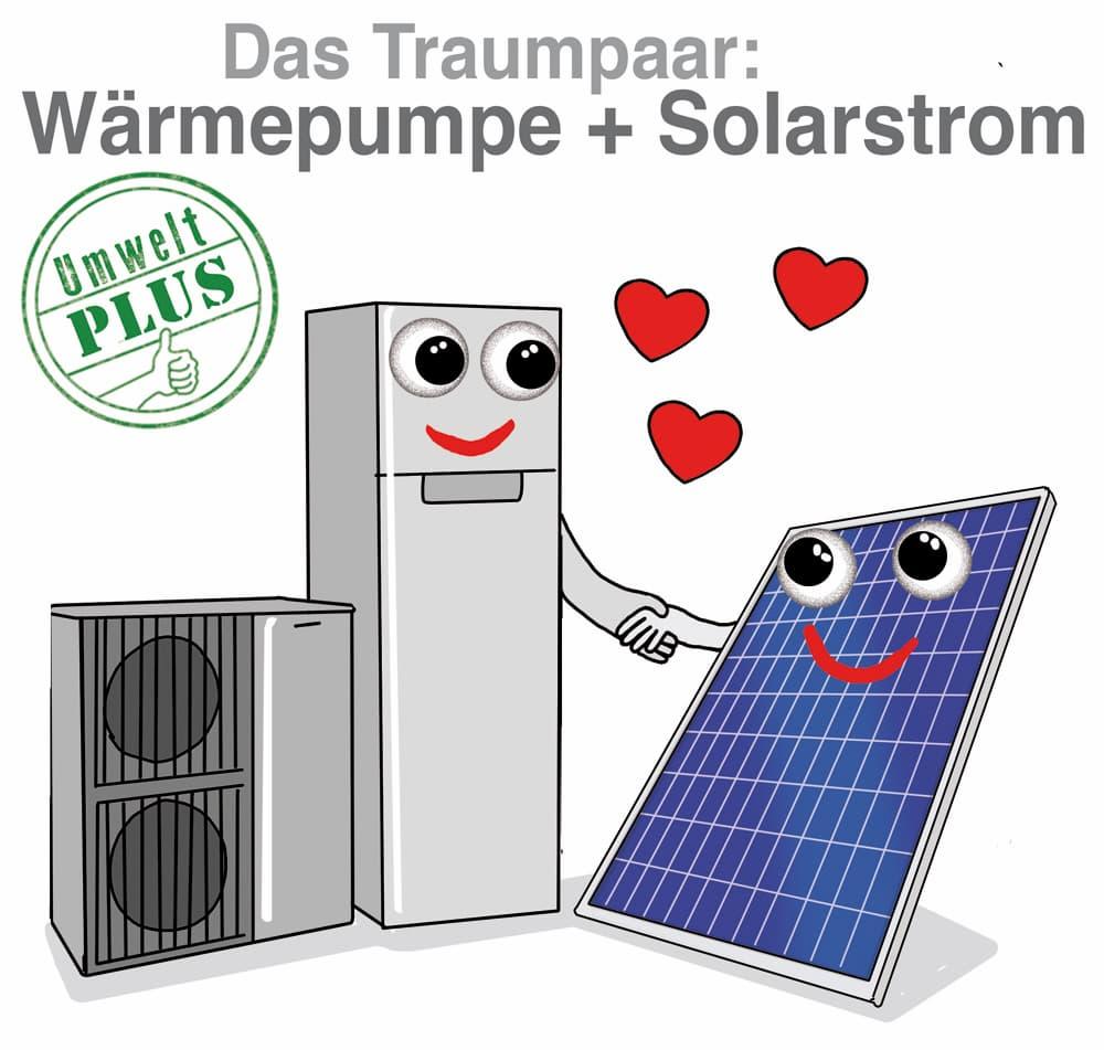 Das Traumpaar: Wärmepumpe und Solarstrom