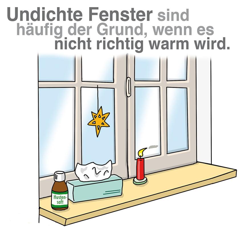 Undichte Fenster sind oft der Grund wenn es nicht richtig warm wird