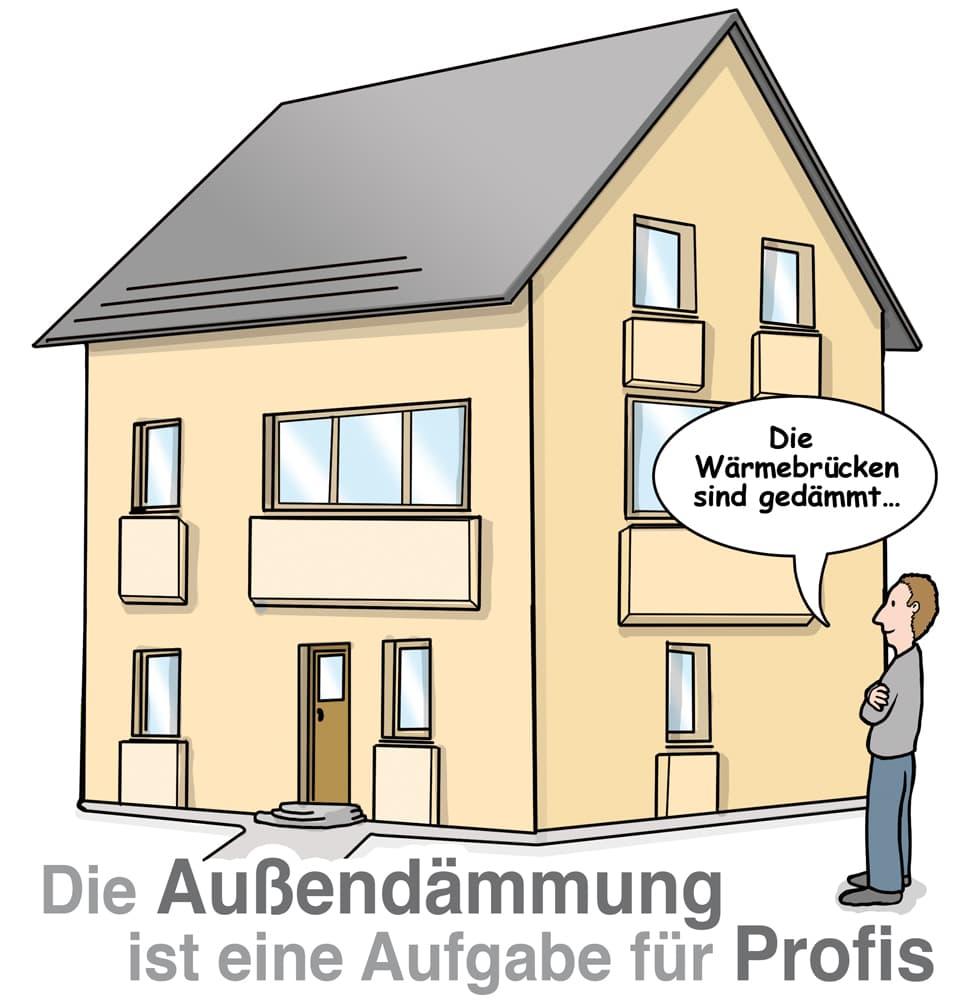 Die Fassadendämmung sollte ein Profi übernehmen
