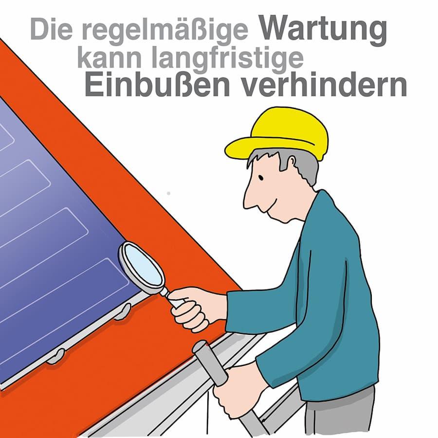 Solarthermie: Regelmäßige Wartung verhindert Einbußen
